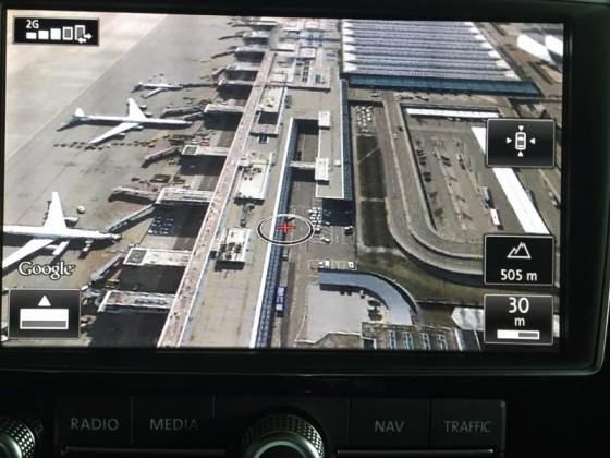 Google Earth, Flughafen MUC II, Maßstab 30 m