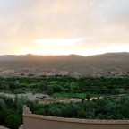 Panorama mit Sonnenaufgang