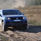 Ein Erlebnis der besonderen Art war die Mitfahrt in diesem Rallye-Touareg. Unglaublich, welche Geschwindigkeiten das modifizierte Fahrwerk auf diesem Untergrund ermöglicht.